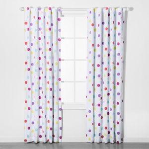 """Pillowfort Dot Blackout Curtain Panel 84""""x42"""""""